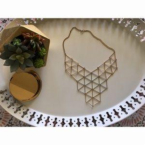 Jewelry - 3 for $25 - Geometric Bib Statement Necklace